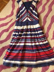 Haljina-na-pruge - Srbija: Pamucna haljina na pruge,velicina 38,nosena nekoliko puta