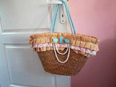 Na prodaju prelepa pletena torba . moze i za plazu a moze i ovako da - Belgrade