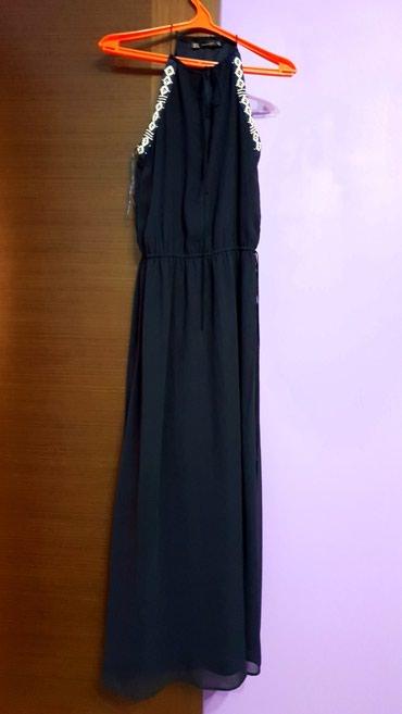 Платье синее с бисером Zara 1000 в Бишкек