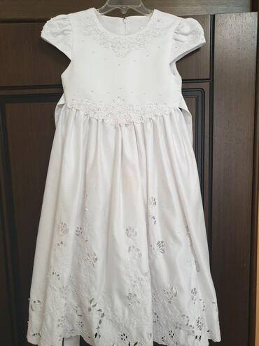 нарядные платья на свадьбу в Кыргызстан: Нарядное детское платье на 6 лет. Б/у очень красивое