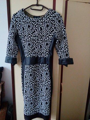 Prelepa haljina sa tri cetvrt rukavima vel 36 - Krusevac