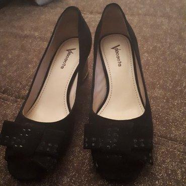 Продаю туфли(турция),замшевые,чёрные в Лебединовка