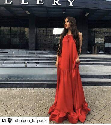көйнөктөр в Кыргызстан: Продаю новое платье из дорого корейского шелка размер стандарт до 50!