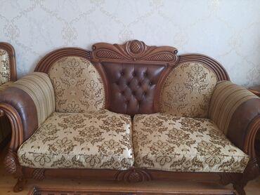 Qollari kowa klassik model yumuwaq divan kreslo desti.qehveyi