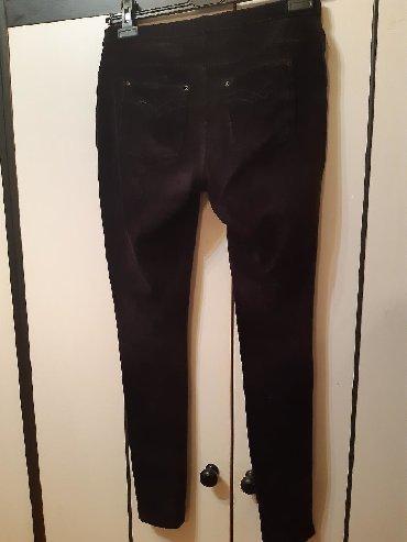 Pantalone-dublje-mekane-i-rastegljive-xl - Srbija: Crne pantalone skoro kao helanke Rastegljive, veličina L