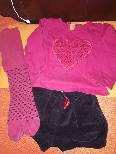 Trodelni komplet..sorc ...majica i carape...vel 2..ocuvano - Sremska Mitrovica