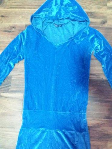 Kraljevsko-plavi-kombinezon-ucina - Srbija: Kraljevsko plava haljina mini plisana