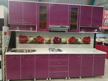 доставка кухонной мебели в Кыргызстан: Кухонный гарнитур 3м. 33000сом- корпусная мебель на заказ-большой опыт