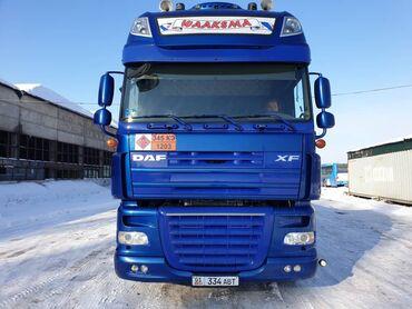 Грузовой и с/х транспорт - Бишкек: Daf XF 105.510 6х2, 2011 г. в. зеленый, механика, ретарда. Прицеп