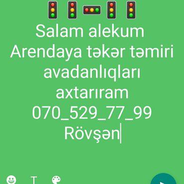 104 - Azərbaycan: Salam alekum arendaya təkər təmiri avadanlıqları axtarıram hazır sexdə