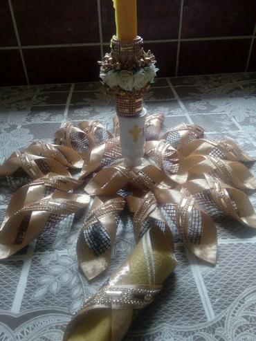 Ostalo | Bajina Basta: Komplet za vas svecani sto, za svecu i 12 mreza za salvete. Da vas