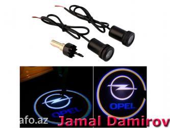 Bakı şəhərində Opel üçün lazer proektorlar. Лазерные проекторы для opel.