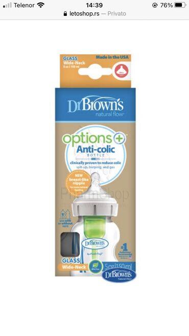 Dr Brown's staklena flasica Options anti-colic 150ml samo 1 probana