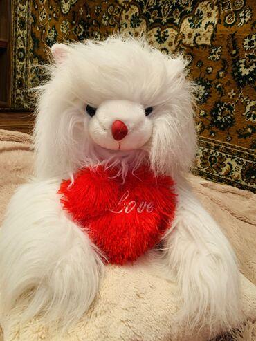 Мягкая игрушка 🧸, кошка очень пушистая, белоснежная голубые глазки