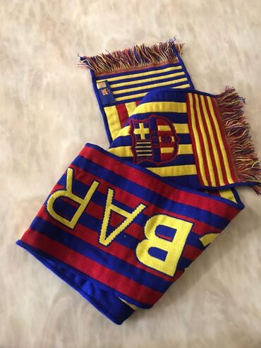 Шарф для фанатов Барселоны, сувенир из Испании WhatsApp