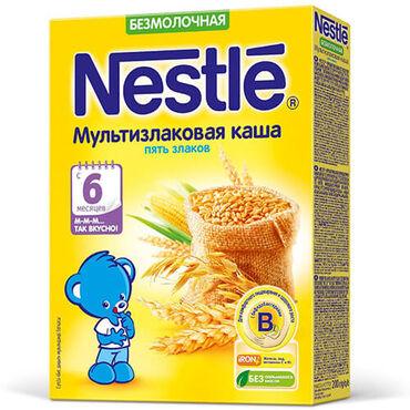 Nestle Каша безмолочная мультизлаковая 5 злаков, 6 месяцев, 200 гр