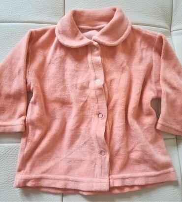 Bodi - Vranje: Plišana narandžasta bluzica za uzrast 3-4 meseca, obim ispod pazuha 50
