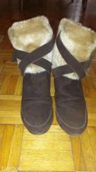 Čizme Aldo sa skrivenom petom,braon,i unutra postavljene,par puta - Belgrade