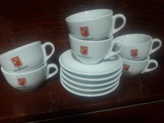 чашка с блюдцем в Кыргызстан: Продаю кофейные чашки (италия). 6 чашки, 5 блюдца. Для