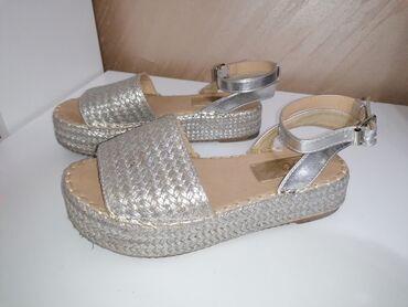 Srebrne sandale, slabo koriscene, bez ostecenja, br 39