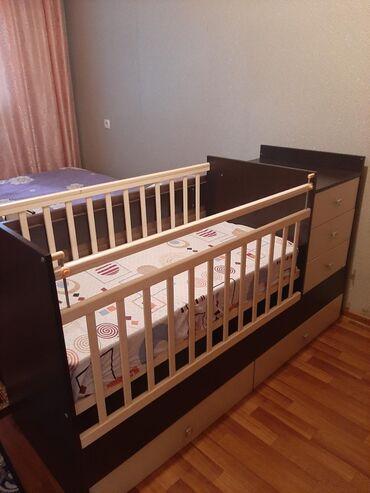 кровать трансформер детская купить в Кыргызстан: Детская кровать, новая, не использовали, изготовлена из качественных