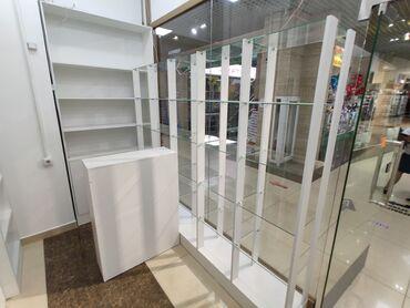 Мебель - Кыргызстан: Срочно продаю торговое оборудование: Витрины, полки, стеклянные полки