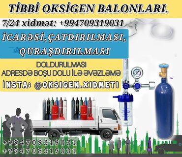 Kameraların quraşdırılması - Azərbaycan: Tibbi oksigen (kislarod) balonlarının təşkili:#icarə-çatdırılması