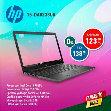 HP.İlkin ödəniş-123 azn. 8 ay-138 azn. % siz.Sifariş və məlumatları