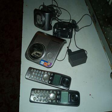 Радиотелефон Panasonic две трубки, база, зарядка