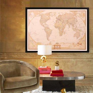 Anticka Mapa Sveta - poster - Zrenjanin