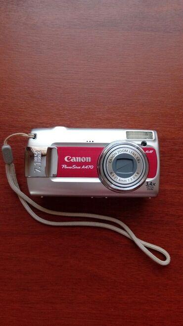 Фото и видеокамеры - Кок-Ой: Фотоаппарат Canon 7.1 megapixels + 1 гб SD card. Зарядное устройство