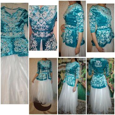 вечернее платье бирюзовый в Кыргызстан: Платье Свободного кроя Elegant L