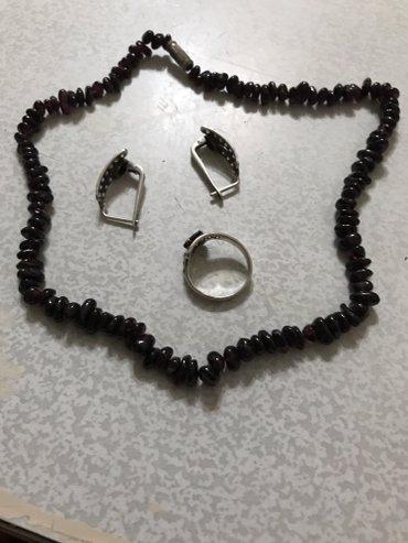 Комплект серебряный кольцо с в Покровка