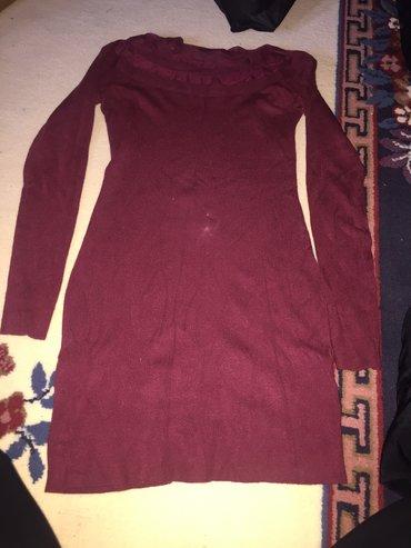 Tunika,mini haljina,bordo,velicina L
