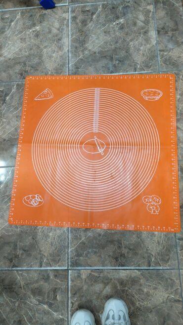 Аксессуары для кухни - Кыргызстан: Силиконовый коврик для раскатки теста  70х70 см