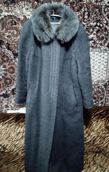 Пальто - Кок-Ой: Пальто очень теплое б/у размер 50-52. Мех натуральный, импортное