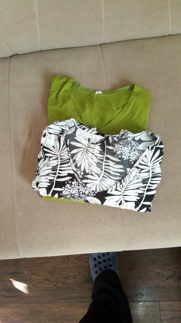 Ženska odeća   Kucevo: Majice kao nove za jednu cenu2 kom sa slike,zelena je dug rukav a bela