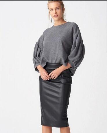 Кожаные юбки Дильвин (производства Турция)Юбка карандаш из эко кожи