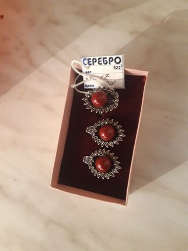 диски воссен 17 в Кыргызстан: Продаю серебряный наборразмер кольца 17,новый