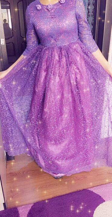 фиолетовое платье на свадьбу в Кыргызстан: Блестящее платье бальное фиолетовый цвет . Одевали один раз на новый