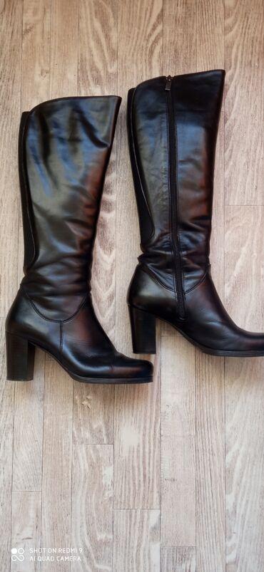 Primark crni mantil - Srbija: Crne kožne čizme,potpuno nove,visina štikle