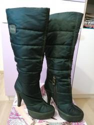 Ženska obuća   Pozarevac: Devergo čizme - vel. 36/37!Prelepe maslinaste Devergo čizme od