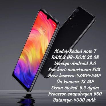 Gəncə şəhərində Xiaomi Redmi note 7