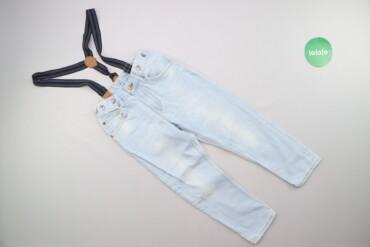 Джинсы и брюки - Б/у - Киев: Підліткові джини з підтяжками H&M, р. XS    Довжина: 70 см Довжина