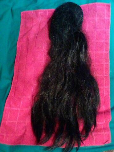 Prirodna kosa sa raifom i pletenicom,60cm