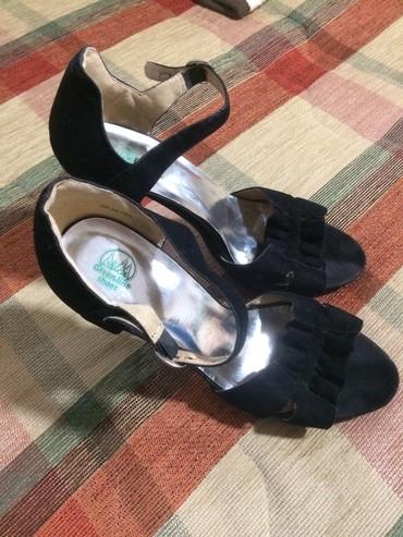 Crne sandale br.39 /40 visina stikle 15