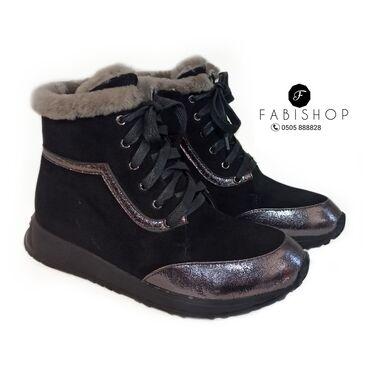 Зимние ботинки. Мех натуральный