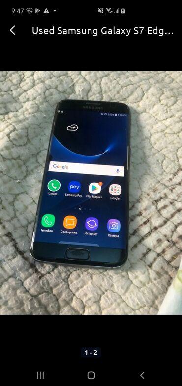 сколе в Кыргызстан: Б/у Samsung Galaxy S7 Edge 64 ГБ Черный