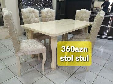 стол деревянный кухонный в Азербайджан: Stol stul desti yenidir 360azn den baslayan qiymetlerle Masa açılır