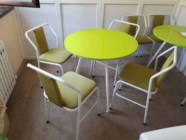 10589 объявлений: Продаю комплект: круглый стол с 4 стульями, ножки стола регулируются